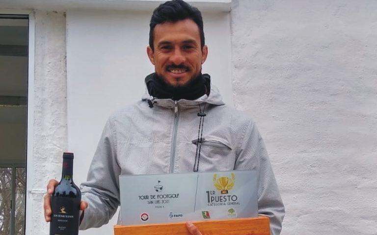 Quiroga, por desempate, ganó una nueva etapa del footgolf puntano